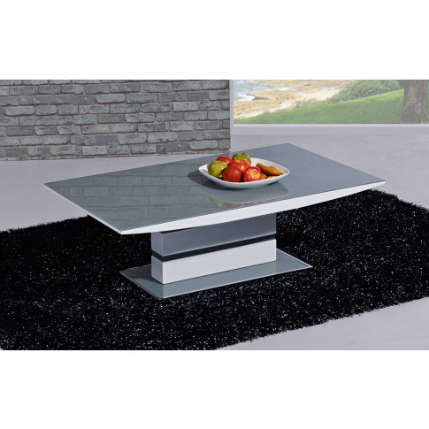 Arctic Grey And White High Gloss Coffee Table