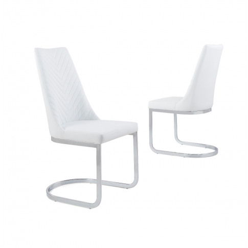 Curva White Faux Leather Dining Chair