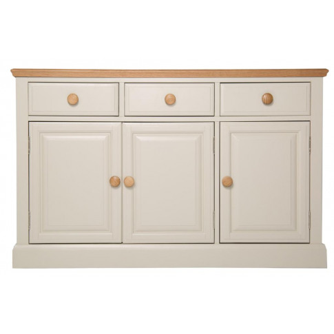 Devon Painted 3 Door 3 Drawer Oak Sideboard