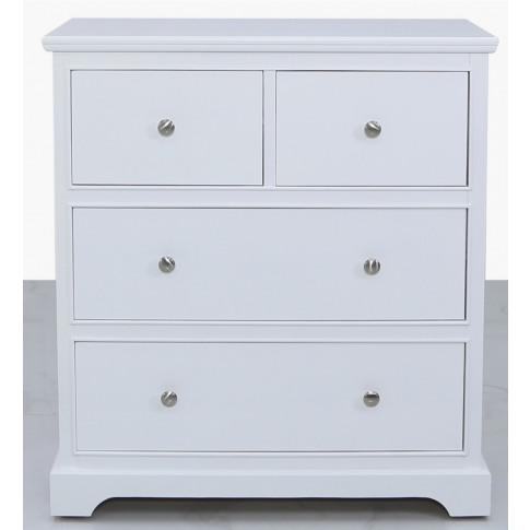 Dafne 4 Drawer White Wooden Cabinet