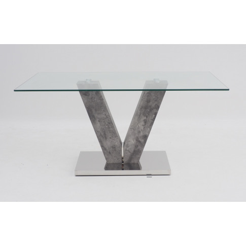 Fairmont Dolce Glass And Grey Stone Look Coffee Table