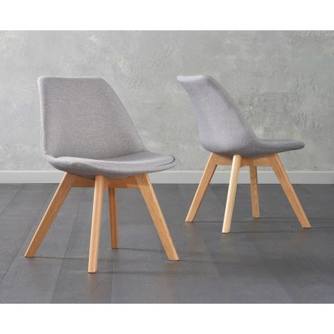 Dannii Light Grey Fabric Dining Chair