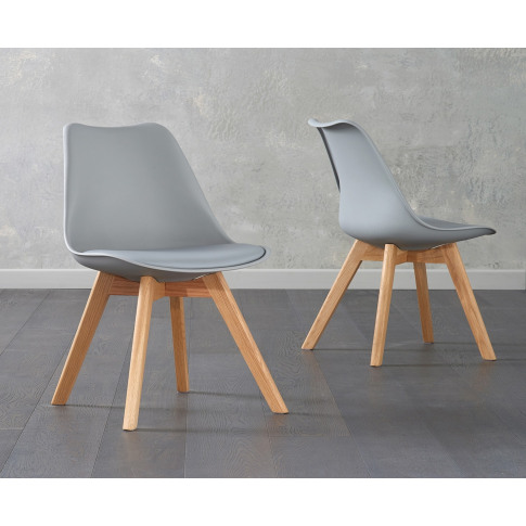 Dannii Light Grey Faux Leather Dining Chair