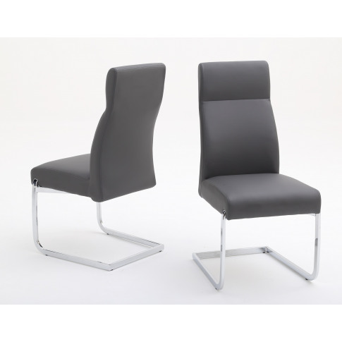 Fairmont Dante Grey Leather Dining Chair