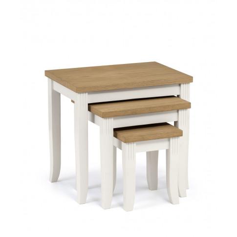 Julian Bowen Davenport Wooden Nest Of Tables