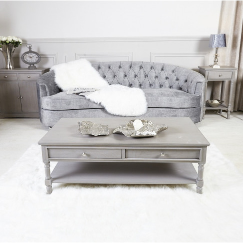 Daytona Taupe Wooden 4 Drawer Coffee Table