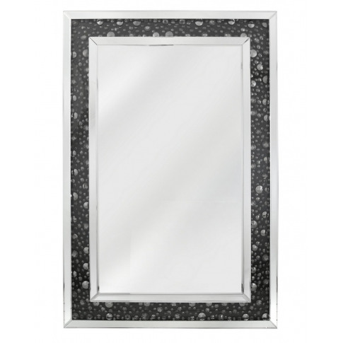 Deco Black Gem Rectangle Wall Mirror