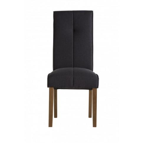 Denver Black Fabric Dining Chair