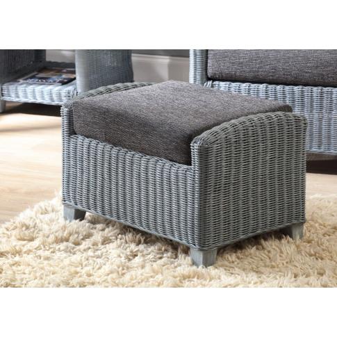 Desser Dijon Grey Footstool And Cushion