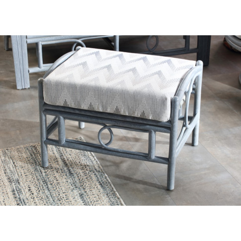 Desser Madrid Grey Footstool & Cushion