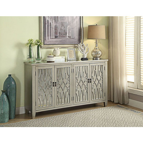 Gallo Champagne Mirrored 4 Door Sideboard