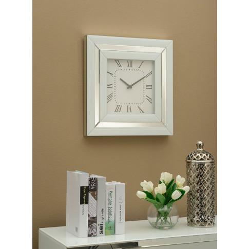 Malibu White Mirrored Wall Clock