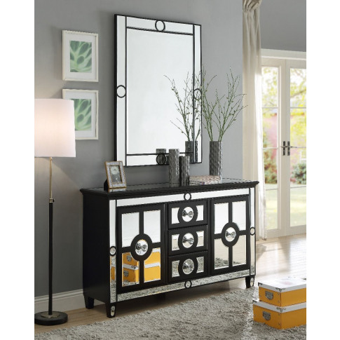 Henley Mirrored Sideboard And Mirror Set