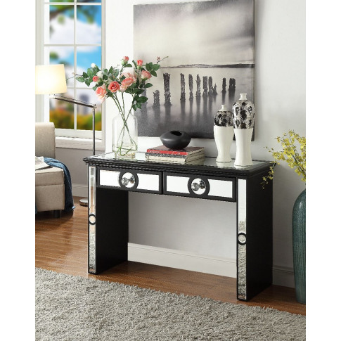 Henley Black Mirrored Console Table