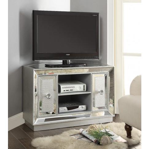 Sofia Chrome Mirrored Corner Tv Unit