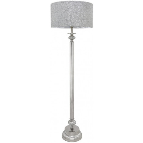 Diamante Nickel Candlestick Floor Lamp With Glitter ...