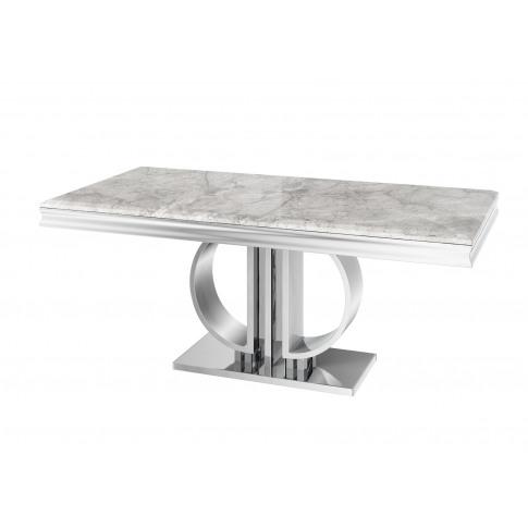 Fairmont Donatello 180cm Rect Grey Marble Dining Table