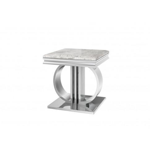 Fairmont Donatello Grey Marble Side Table