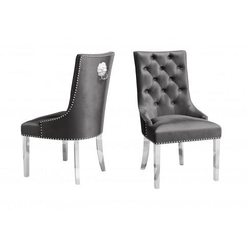 Fairmont Donatello Dark Grey Velvet Dining Chair