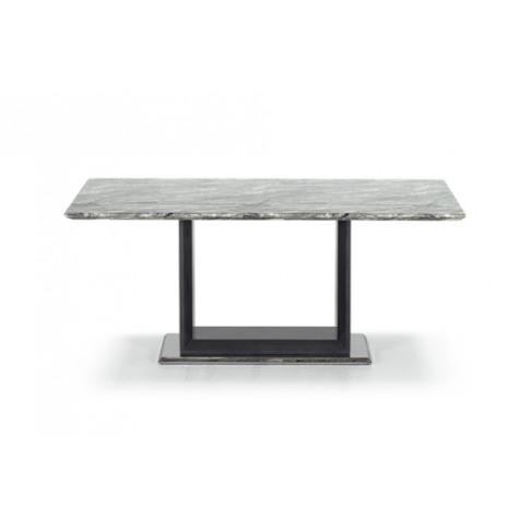 Donatella 120cm Grey Marble Dining Table