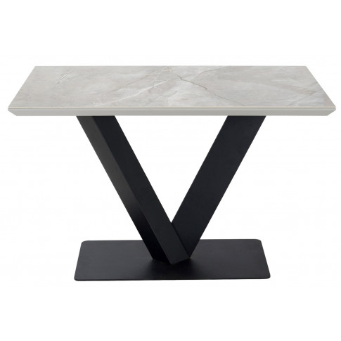Alessia 120cm Grey Marble Rectangular Dining Table