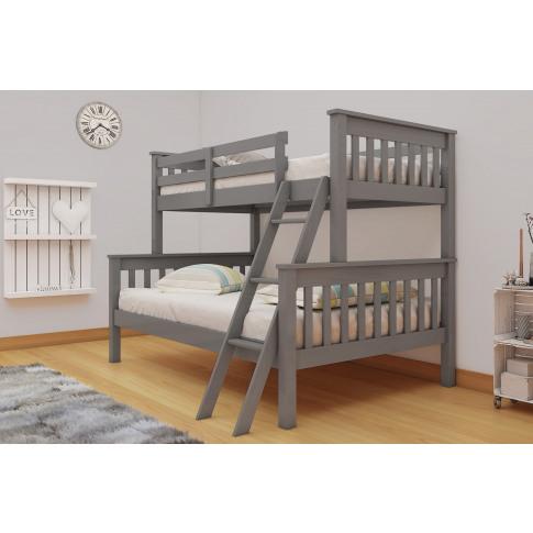 Dux Triple Sleeper Grey Bunk Bed