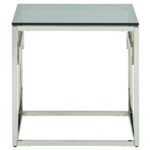 Eden Glass Top With Silver Frame Lamp Table