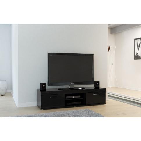 Edgeware Black High Gloss Tv Unit