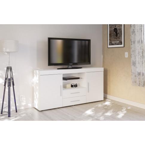 Edgeware White High Gloss 2 Door 2 Drawer Sideboard