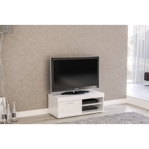 Edgeware White High Gloss Small Tv Unit