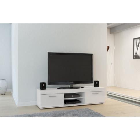 Edgeware White High Gloss Tv Unit
