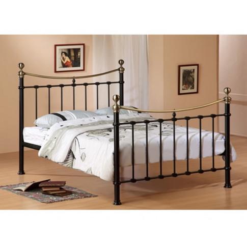 Elizabeth 5ft Kingsize Black Metal Bed