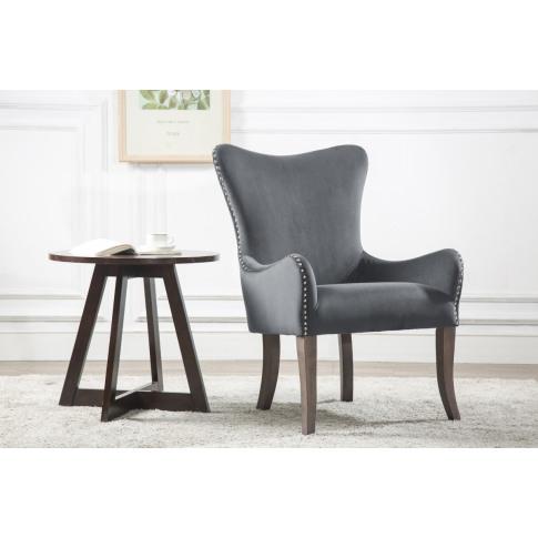 Ellis Grey Fabric Accent Chair