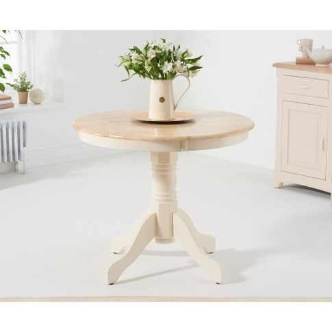 Elstree 90cm Cream And Oak Dining Table