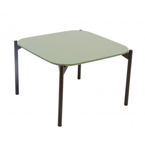 Elvar 80cm Green Concrete Square Coffee Table