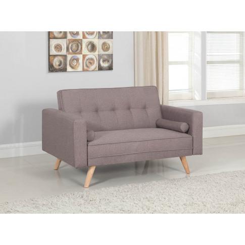 Ethan Grey Fabric Medium Sofa Bed