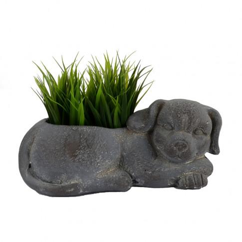 Europa Dog 15cm Fibre Clay Planter