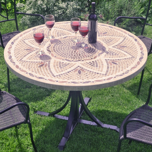 Europa Montpellier 110cm Round Marble Dining Table