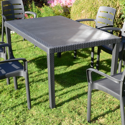 Europa Salerno 150cm Grey Rect. Dining Table
