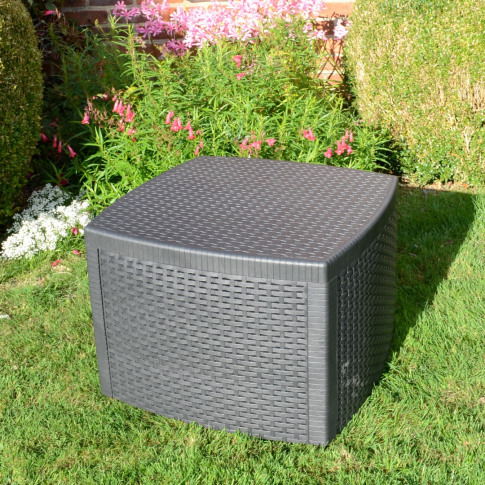 Europa Sicily Grey Square Side Table