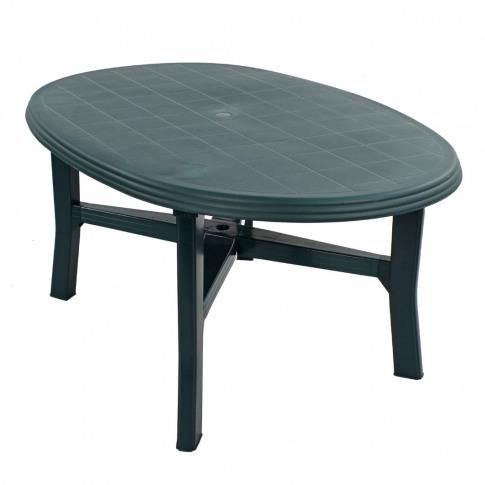 Europa Teramo 165cm Green Oval Dining Table