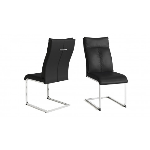 Fairmont Rossi Black Leather Dining Chair