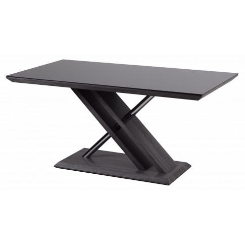 Fairmont Xavi Walnut Glass Dining Table + 6 Gabi Whi...