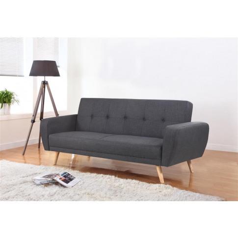 Farrow Grey Fabric Large Sofa Bed