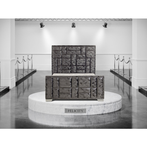 Oliver & Sons Felicity 5ft Kingsize Fabric Bed
