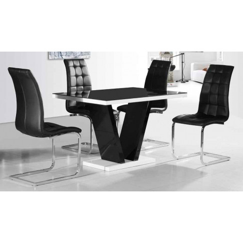 Enzo Black Faux Leather Dining Chair