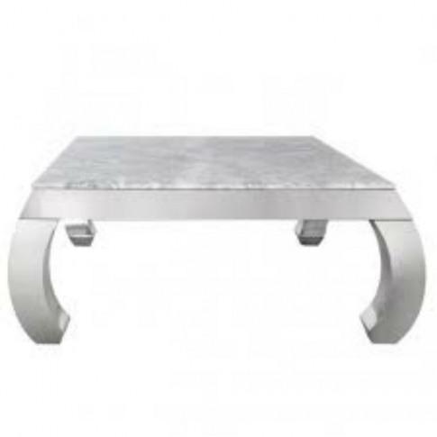 Floris Grey Marble & Chrome Coffee Table