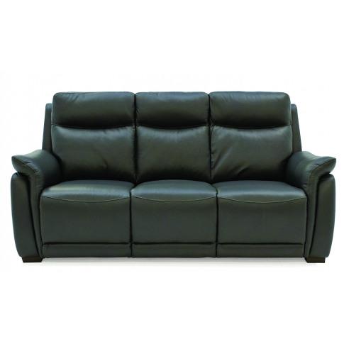 Francesco 3 Seater Grey Leather Fixed Sofa