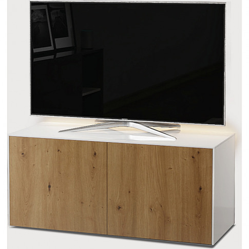 Intel 1100 Led 2 Door Wht Tv Unit