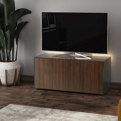Frank Olsen Intel 110 Grey And Walnut High Gloss Tv ...